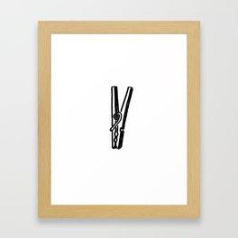 Clothespin Framed Art Print