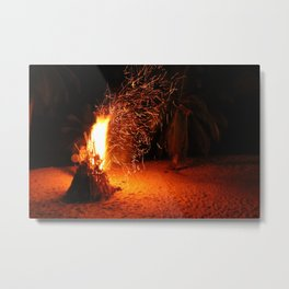 Through the Fire and the Flames Metal Print