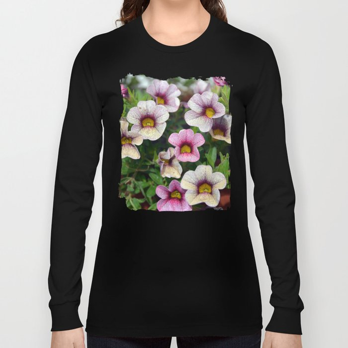Floral summer cocktail Long Sleeve T-shirt