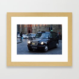 Royal Mile Cabby  Framed Art Print