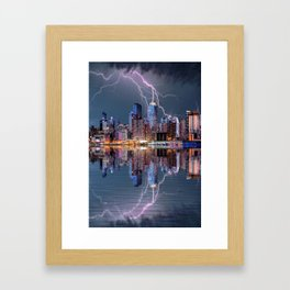 New York Storm Framed Art Print