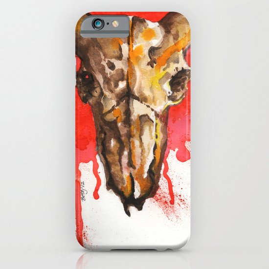 red moon skull iPhone & iPod Case