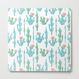 Cactus Flower Print Metal Print