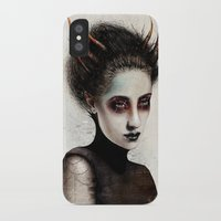 death iPhone & iPod Cases featuring Death by Feline Zegers