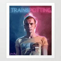 trainspotting Art Prints featuring Trainspotting - Renton by KevinART