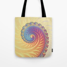 The Glow From Within - Fractal Art Tote Bag