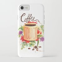 coffe iPhone & iPod Cases featuring Coffe Addict by Luana Mucci