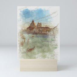 Venezia Canal Grande - SKETCH Mini Art Print