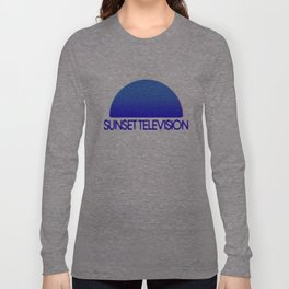Sunset Television Logo Blue Long Sleeve T-shirt
