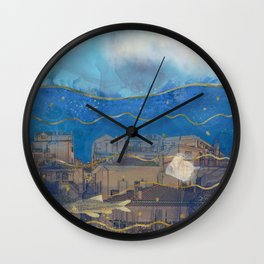 Cities under the Water - Surreal Climate Change Wall Clock