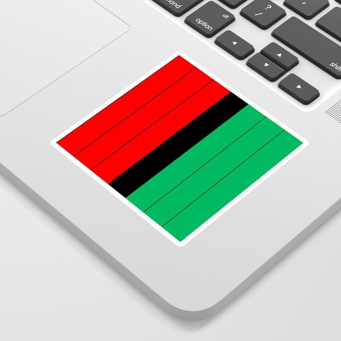 Kwanzaa Red Black Green Stripes Sticker