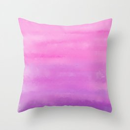 Sunset Clouds Abstract Throw Pillow