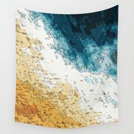 Satellite generative illustration Wall Tapestry