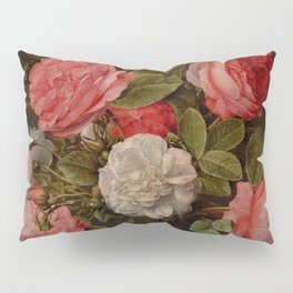 "Jacob van Hulsdonck ""Roses in a Glass Vase"" Pillow Sham"