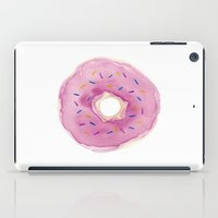 donut iPad Cases featuring Donut by Janelle Adamson