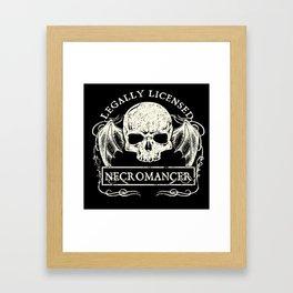 Legally Licensed Necromancer Framed Art Print