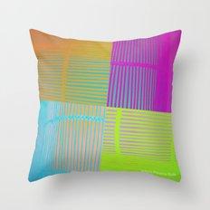 Di-simetrías Color Throw Pillow