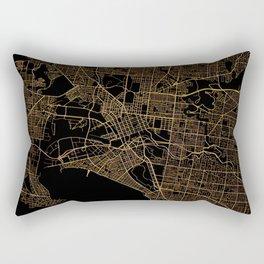 Black and gold Melbourne map Rectangular Pillow