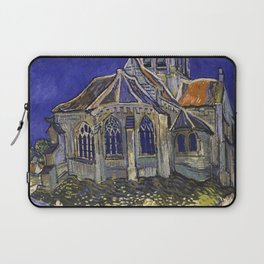 The Church at Auvers by Vincent van Gogh Laptop Sleeve
