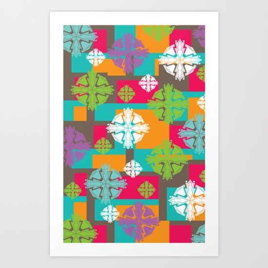 Indian Holi Art Print