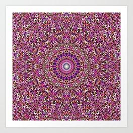Colorful Girly Lace Garden Mandala Art Print