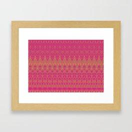 Aztec pattern in burgundy Framed Art Print