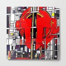 Cubism Elevator Pulley Metal Print