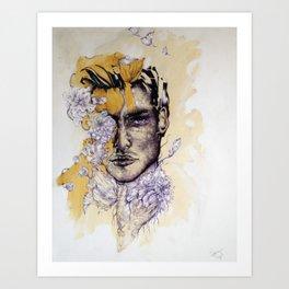 IN Gold Art Print