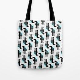 Glitching Crow Pattern Tote Bag