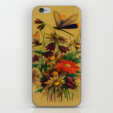 Stained Glass Dragonflies & Flowers iPhone & iPod Skin