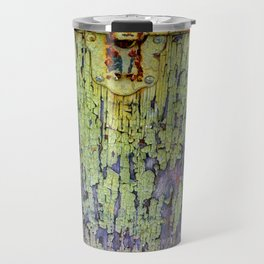 Cracked Vintage Paint Abstract Travel Mug