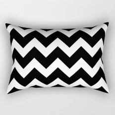 Chevron Black & White Rectangular Pillow
