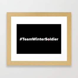 #TeamWinterSoldier Hashtag Team Winter Soldier Framed Art Print
