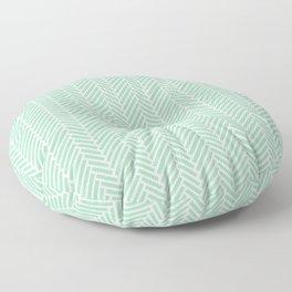 Herringbone Mint Inverse Floor Pillow