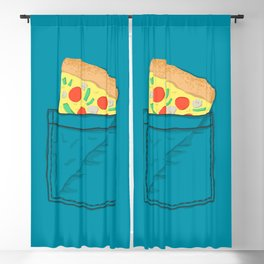 Emergency supply - pocket pizza Blackout Curtain