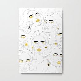 In Mustard Metal Print