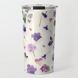 Delicate Violets Travel Mug