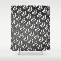 birthday Shower Curtains featuring birthday by Masanori Toda