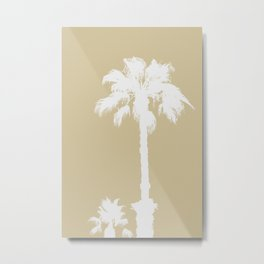BEIGE SERIES Palm silhouettes on sand color Metal Print