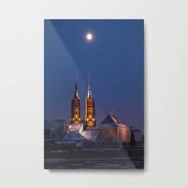 Wrocław Cathedral @night Metal Print