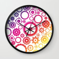 Color Cogs. Wall Clock