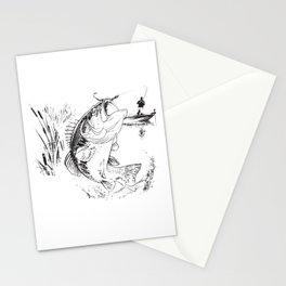 Bass Fishing Stationery Cards