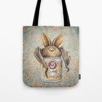 cookies Tote Bags featuring Bat Cookies by Patrizia Ambrosini