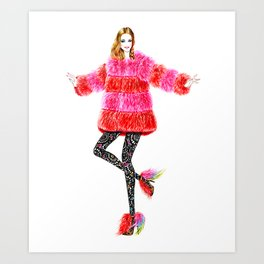 Fur coat Art Print