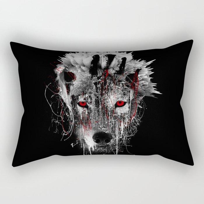 WOLF - RED EYE Rectangular Pillow