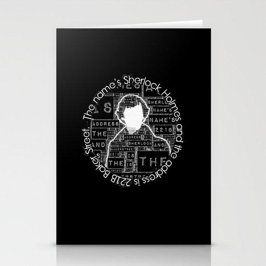 Sherlock BBC: Type Stationery Cards