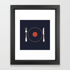 Vinyl Food Framed Art Print