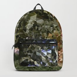 Canary Island Palm Low Poly Triangles Backpack