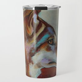 Wolf Portrait Travel Mug