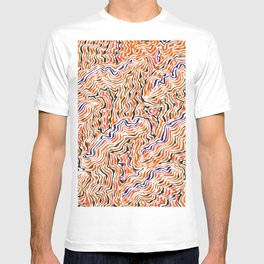 red topography T-shirt